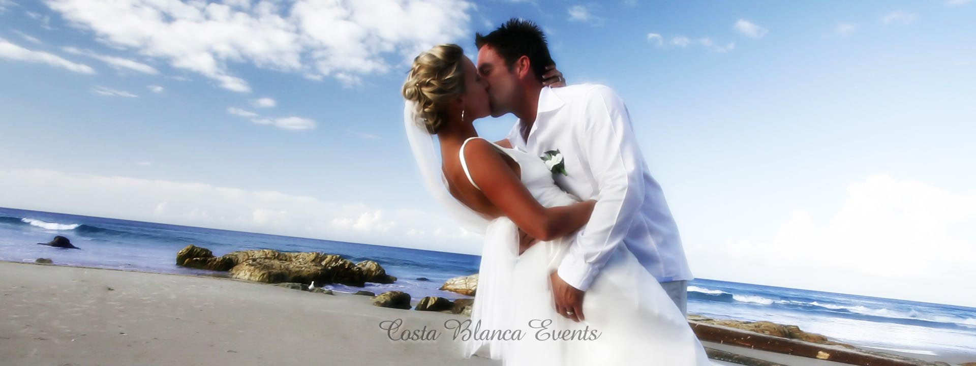 Destination weddings in Spain - wedding couple on the beach