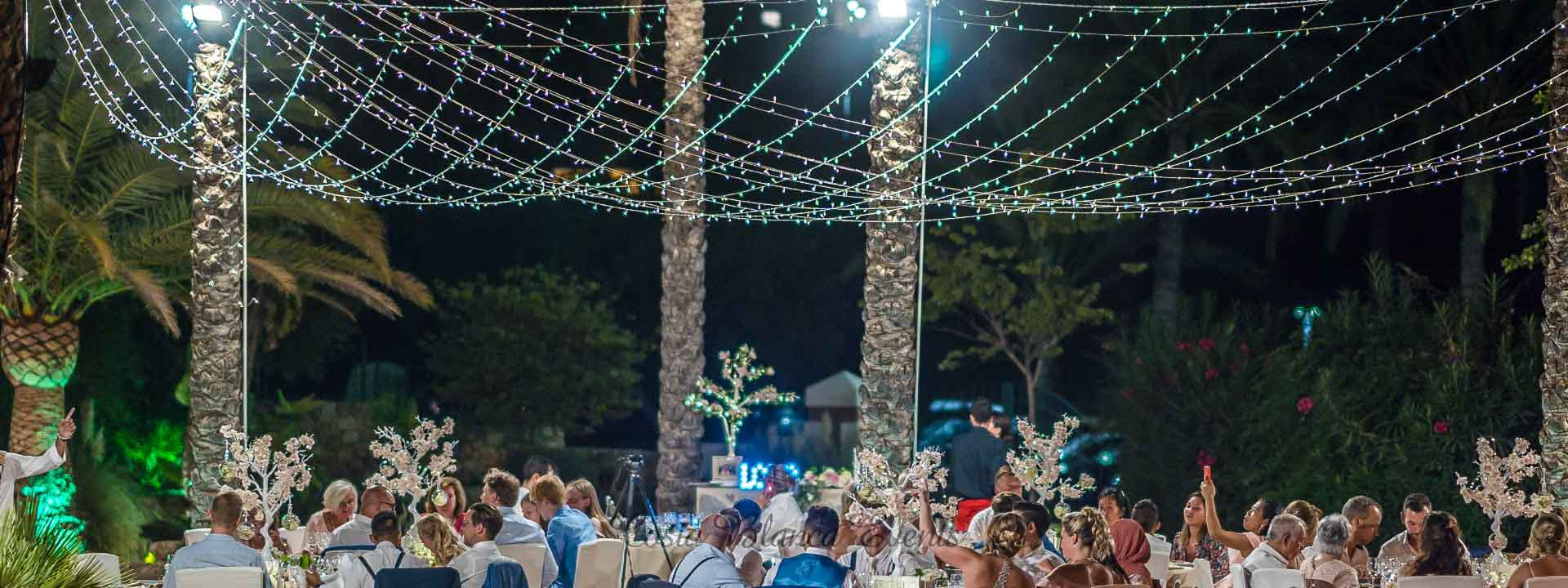 List of services for your wedding in Spain - example of fairy tale lighting