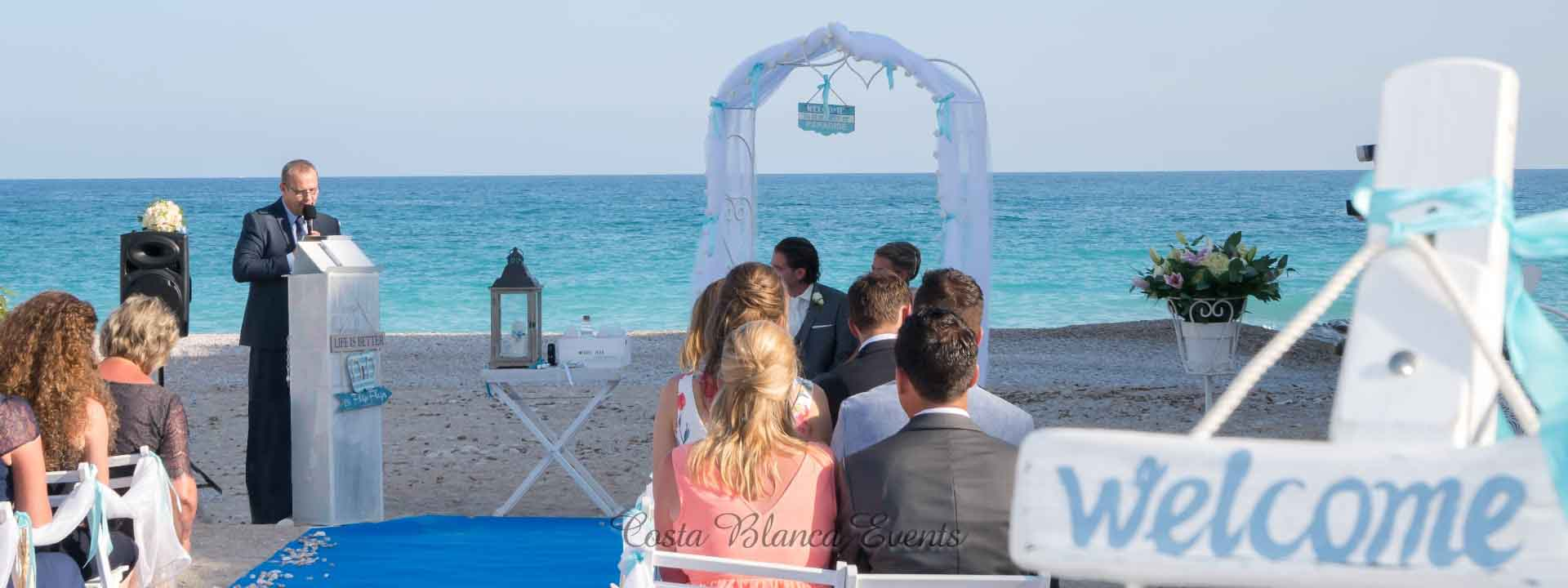 Spain wedding packages all inclusive on the beach ceremony