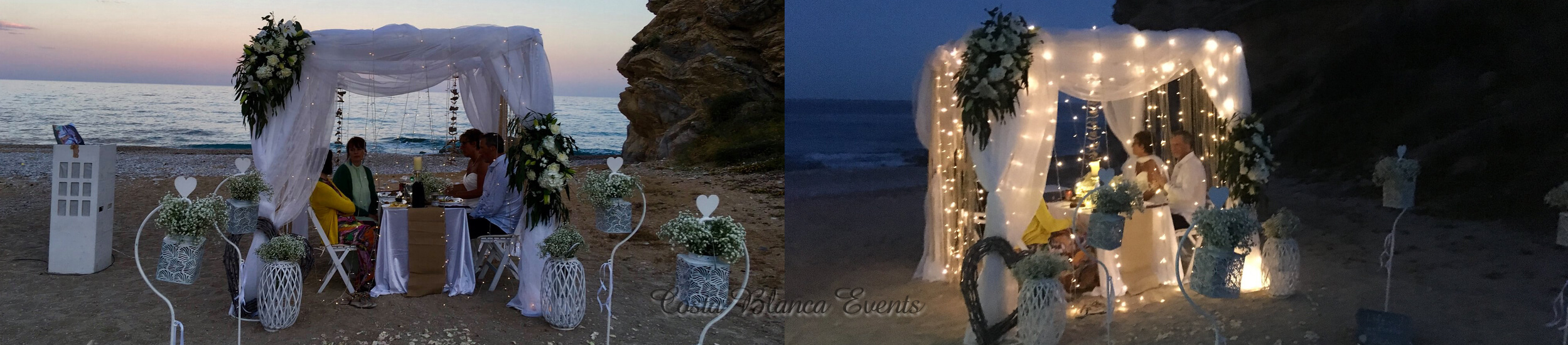 Beach wedding under the stars, could this be something for you?