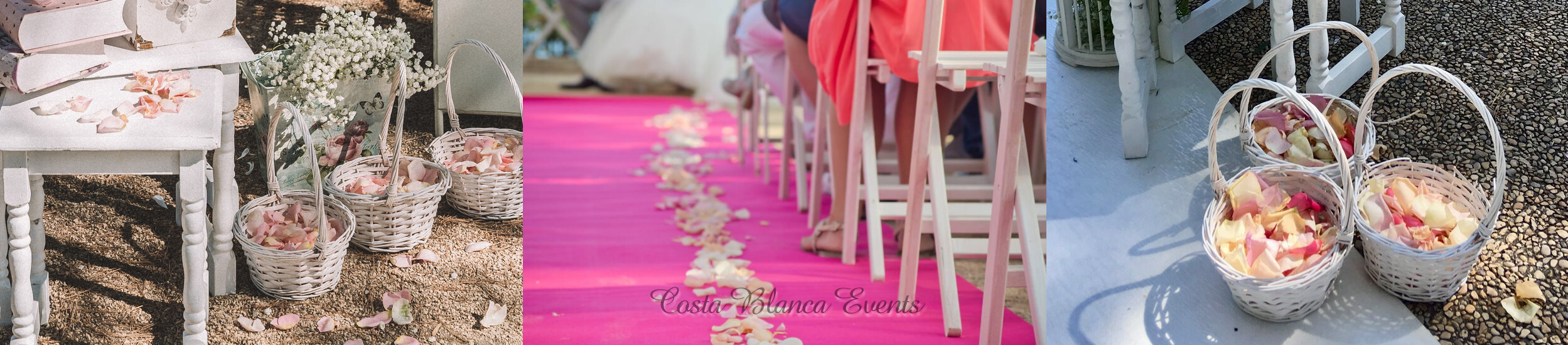Flower petals on the aisle during a wedding complete everything